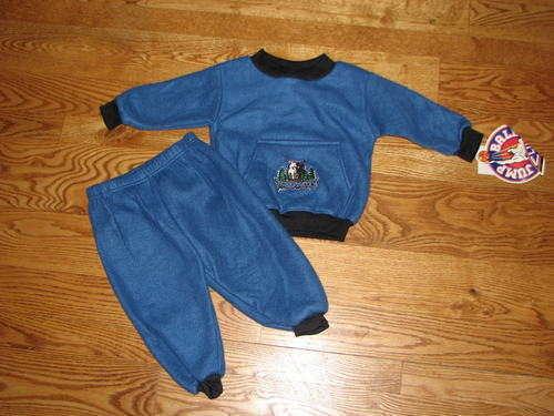 NEW Boys Minnesota Timberwolves Sweatshirt Sweats Set Size 18M 18 Mo Baby Pants