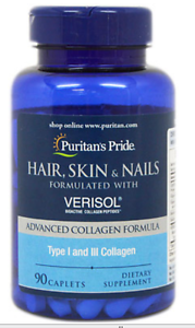 17,00 € 90 COMP.  COLAGENO I Y III VERISOL PURITANS, HAIR SKIN NAILS