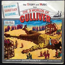 Bernard Herrmann 3 WORLDS OF GULLIVER Story+Music OST LP 1960 Ray Harryhausen UK