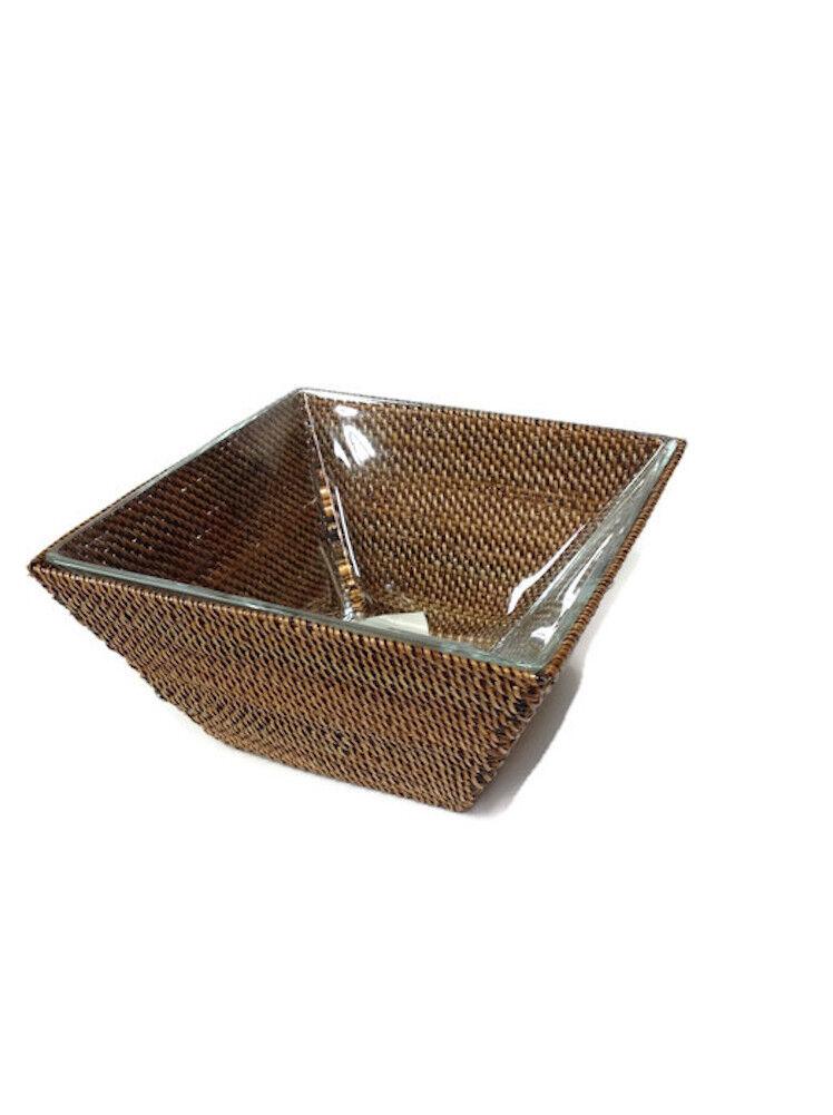 Calaisio - Square Basket w  Glass Serving Bowl