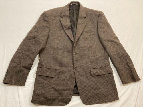 M78 EUC PRONTO UOMO Brown Plaid Lambswool Top Suit