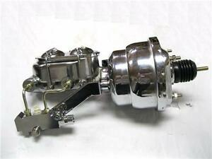 "7/"" Rod Power Booster w// Smooth Master Cylinder /& Disc Disc Prop Valve CHROME"