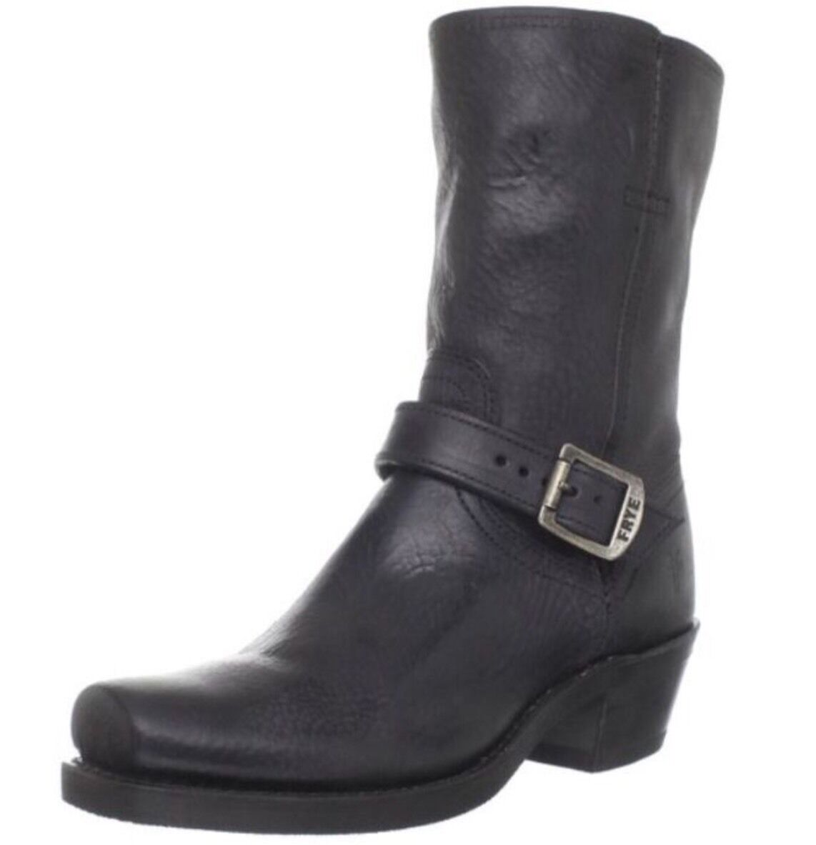 New FRYE Women's Harness Strap 8R,Black Soft Pebbled Full Grain Grain Grain 8 8.5 b87856