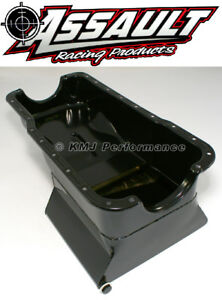 65-87-SBF-Ford-7qt-Front-Sump-Black-Drag-Race-Oil-Pan-Small-Block-260-289-302