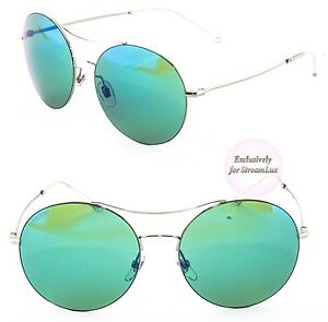 GUCCI Round Sunglasses GG 4252 S 6LBHZ Silver Reflected Green Blue ... 0c0621b772