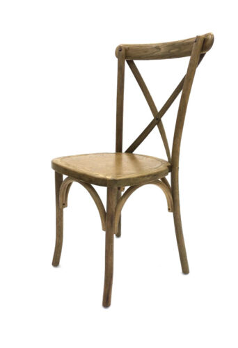 4 x DINING CHAIRS OAK WOODEN CHAIRS CROSS BACK CROSSBACK