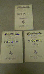 Pigozzi-Biblioteca-degli-studenti-TOPOGRAFIA-3-VOLUMI-1946-Giusti