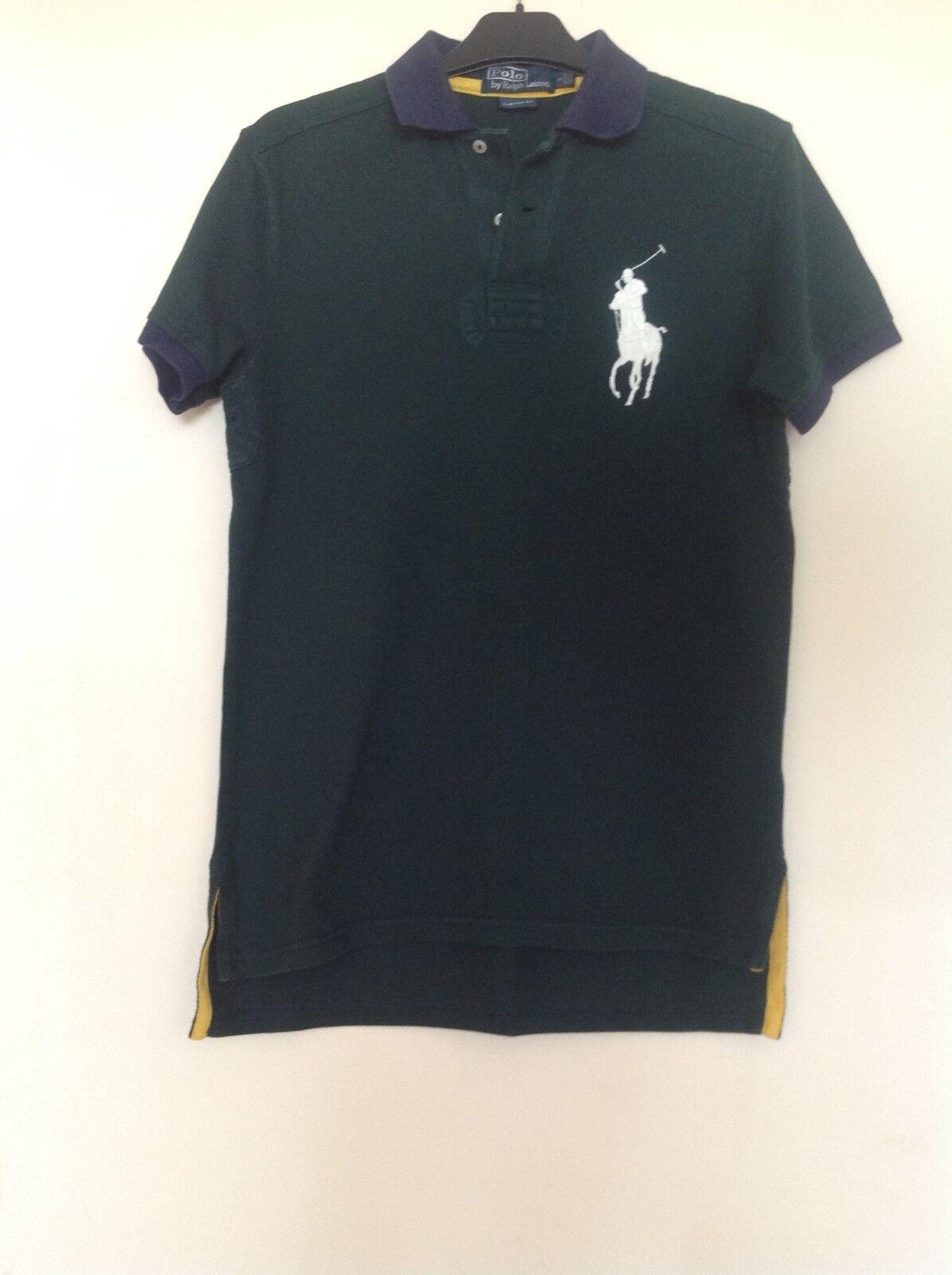 Ralph Lauren Men's dark green Polo Shirt size s. Authentic