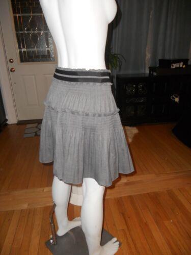 DVF Diane Von Furstenberg PYRETTE BIS Full Skirt Charcoal Grey $275