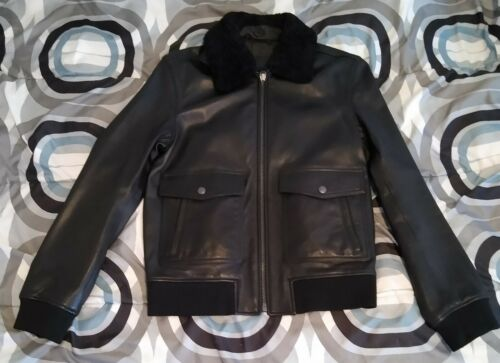 Coach Leather Bomber Jacket Coat F84862 Shearling