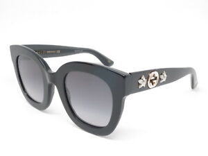 ce8ce2b197 New Authentic Gucci GG0208S 001 Black with Grey Gradient GG 0208S ...