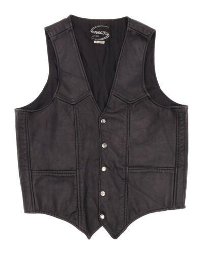 Vintage STURGIS Leather Motorcycle Vest M Medium M