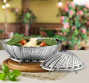 Collapsible-Steamer-Set-of-2-Stainless-Steel