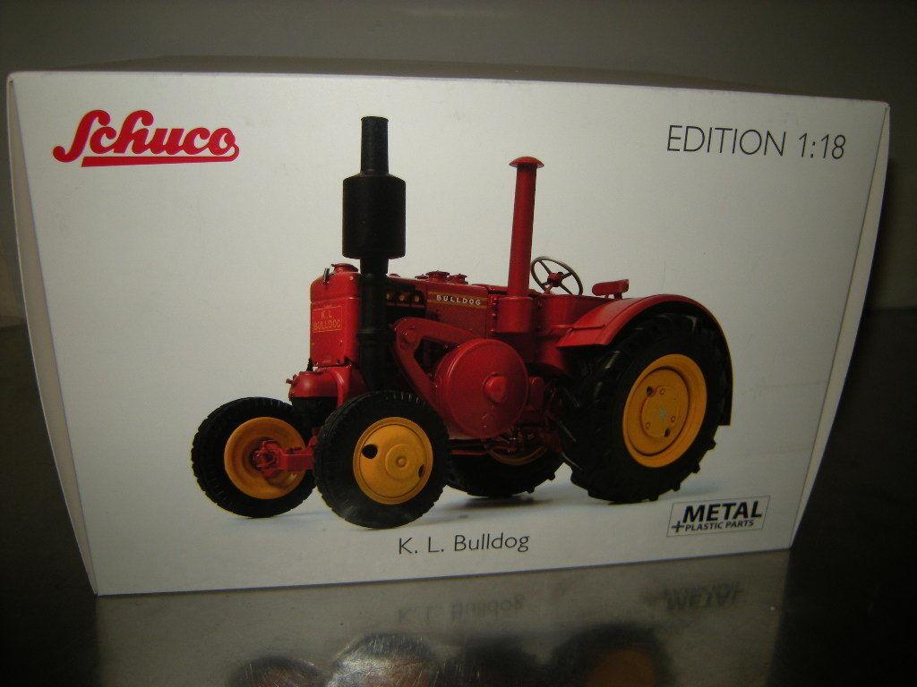 1 18 Schuco K.L. BULLDOG ROUGE rouge nº 450011700 in neuf dans sa boîte