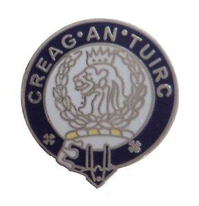 MacLaren Clan Scotland Scottish Name Pin Badge - The Boar's Rock