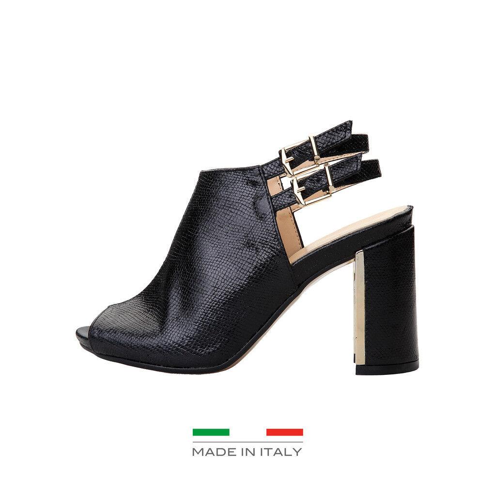 Versace v-1969 amelie zapatos señora sandalias sandalias, negro, PVP: