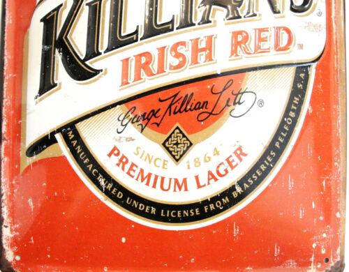 "Killian/'s Irish Red Premium Lager 8 X 12/"" Embossed Metal Sign"
