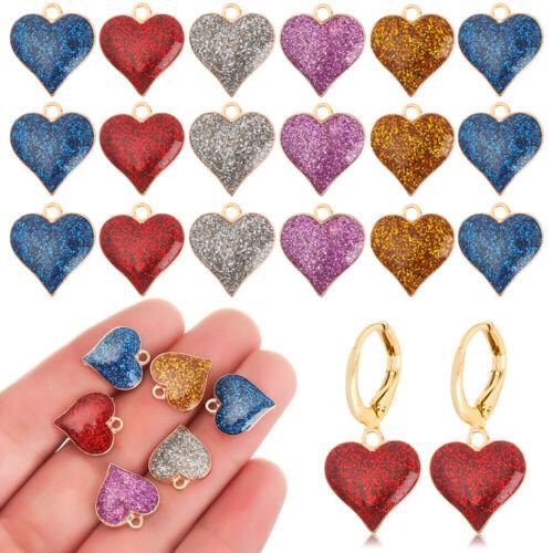 Earring DIY Accessories Enamel Charms Handmade Jewelry Shining Heart Pendants