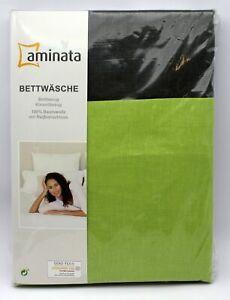 Aminata-Wende-Bettwaesche-Set-135x200-80x80-cm-Grau-Gruen-LImette