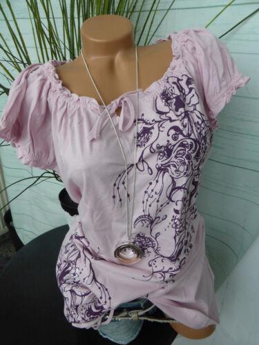 871 nuevo Cheer camisa manga corta camisa manga corta talla 36 hasta 48 lilas con inscripciones