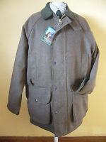 Brown Waterproof Keeper Tweed Shooting Coat Riding/jacket