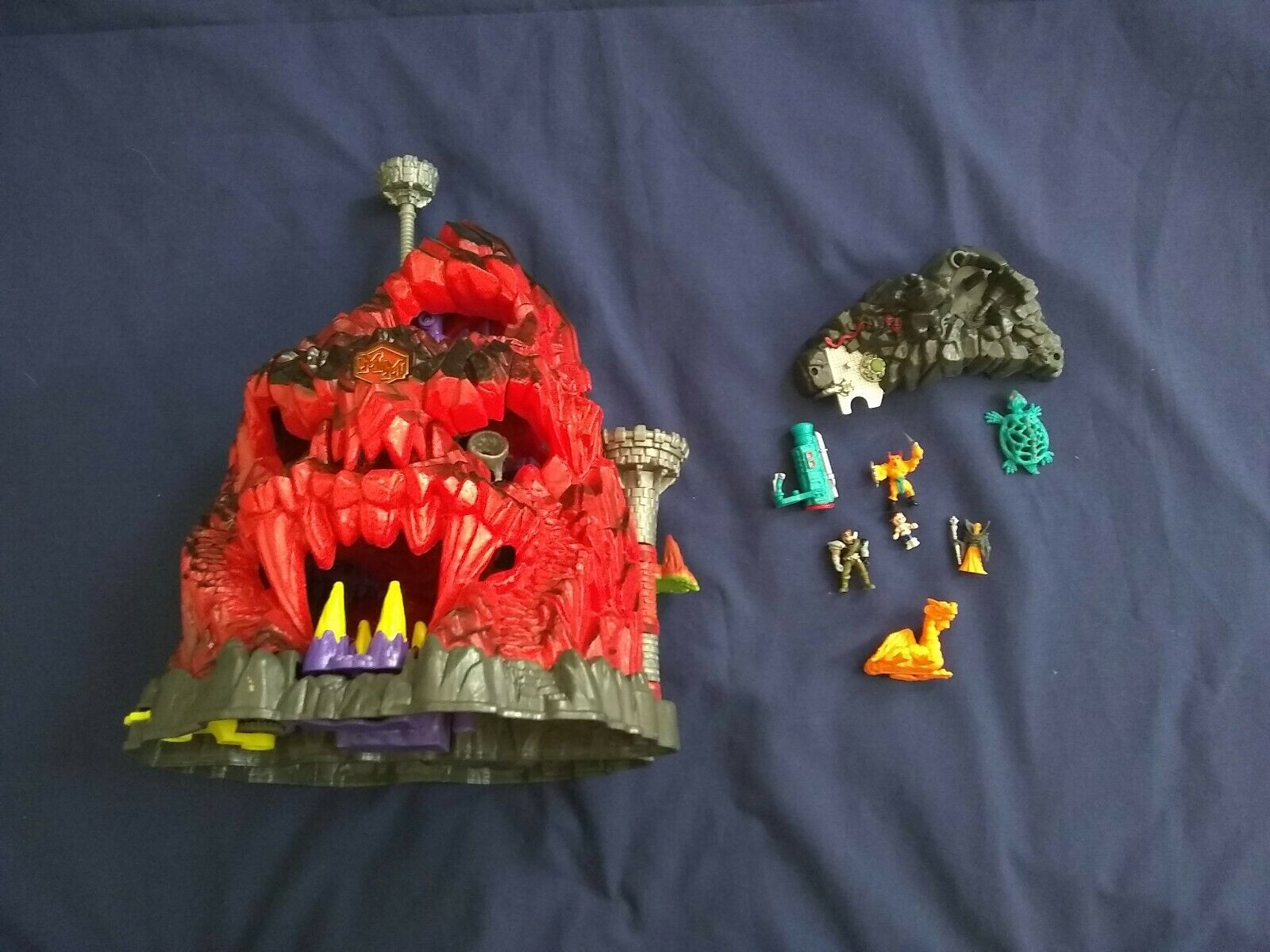 blueebird Mighty Max Trapped In Skull Mountain Playset 1992 Near Complete