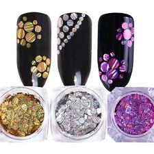 3 Boxen BORN PRETTY Mix Laser Round Stripe Nail Pailletten Hologramm Glitter DIY