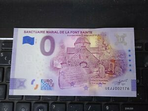 BILLET EURO SOUVENIR 2021-6 SANCTUAIRE MARIAL DE LA FONT SAINTE ANNIVERSAIRE