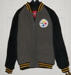outlet store 37efe a4fa2 Details about MENS L NFL VINTAGE THROWBACK PITTSBURGH STEELERS JACKET