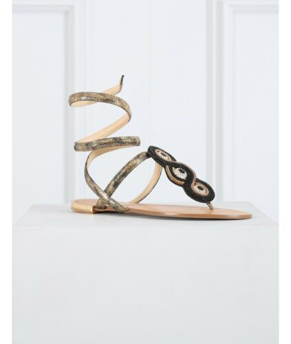 36 Embellished Bnib £165 Uk Sequin Unique Sandals Gold Forever Eu 3 Dana Black amp; BOxB4r