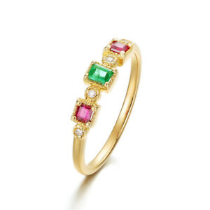 Size-6-10-Crystal-Yellow-Gold-Color-Cubic-Zircon-Band-Jewelry-Wedding-Rings