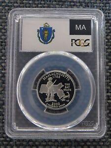 2000-S 25c New Hampshire CLAD Quarter Proof PCGS PR70DCAM State Flag Label
