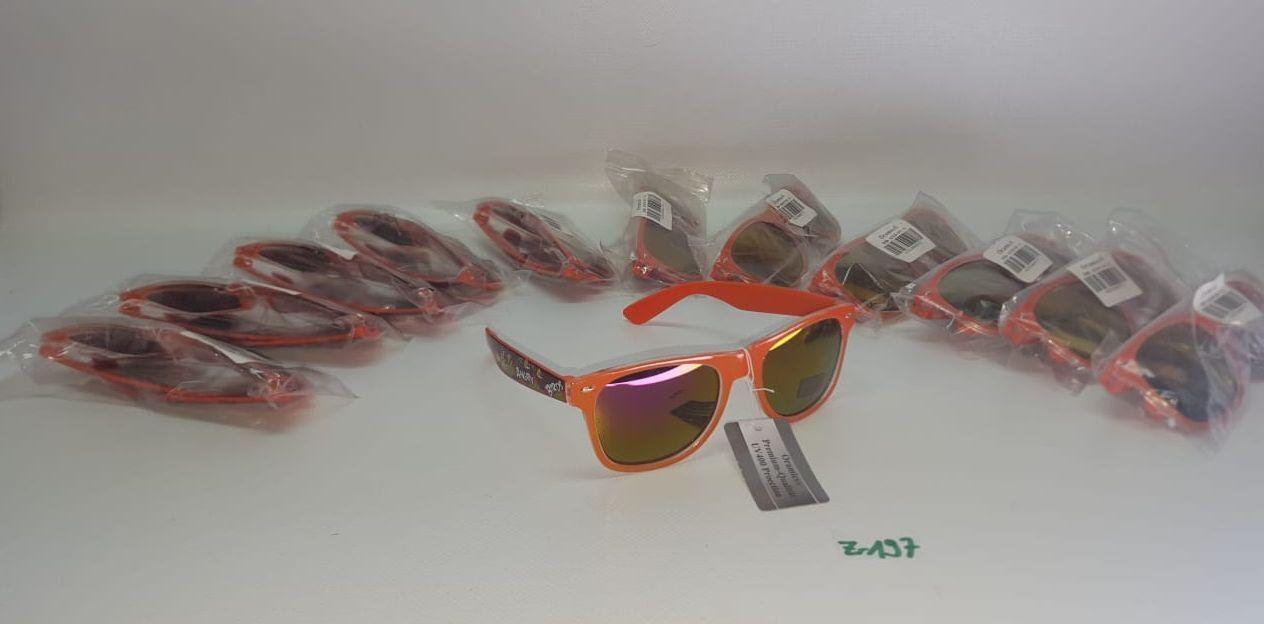 12 x Oramics Kinder Sonnenbrille orange UV 400 Protection Art. Nr. Z-197