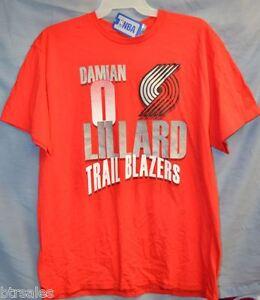 outlet store 9b6b2 232ab Details about Portland Trail Blazers Damian Lillard tee-shirt size XL NBA  Store