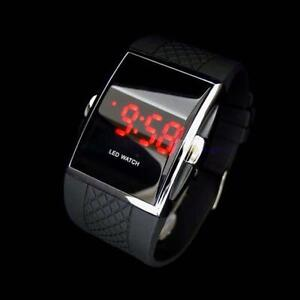 Luxury-Men-039-s-Black-LED-Digital-Sports-Quartz-Waterproof-Wrist-Watch