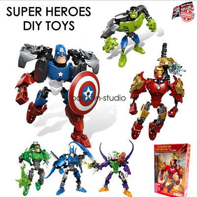 6PCS Marvel DC Supereroe Avengers INCREDIBILE HULK Action Figure Giocattoli Cake Topper