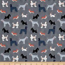 FT127 Puppy Dog Schnauzer Poodle Terrier Retro Cotton Quilt Fabric