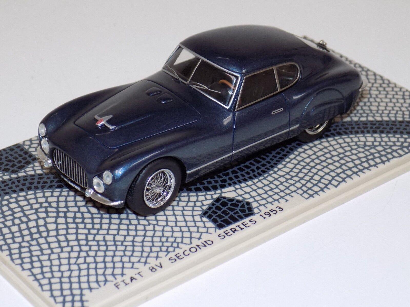 1 43 Bizarre Fiat 8 V second series route voiture bleu métallique de 1953 BZ352