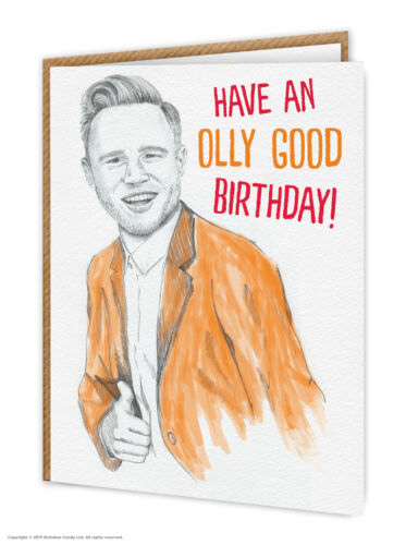 Olly Muirs Birthday Card Funny Witty Comedy Humour Illustration Sketch Cool