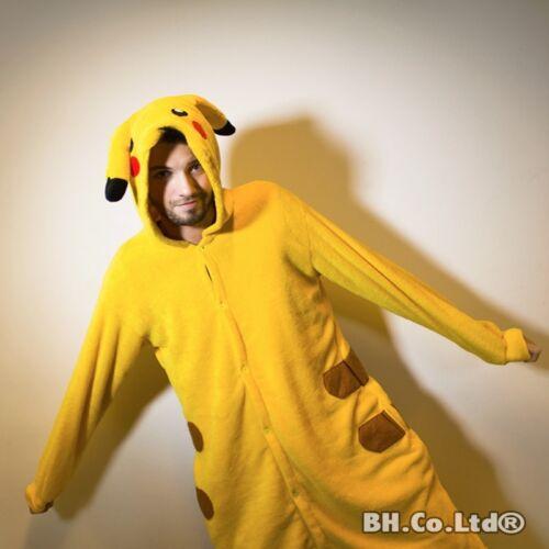 Adult Kids Cosplay Kigurumi Pajamas Animal One11 Pyjamas Sleepwear Pikachu S-XL