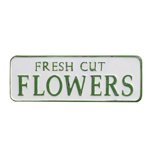 Fresh Flowers Vintage Look Farm House Wall Décor Metal Sign 106180028053
