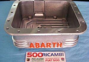 FIAT-500-F-L-R-126-COPPA-OLIO-MOTORE-LOGO-ABARTH-ROSSO-SPORTIVA-ALLUMINIO-3-5-KG