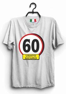 Maglia Maglietta T Shirt Frase Divertente 60 Anni Compleanno Idea