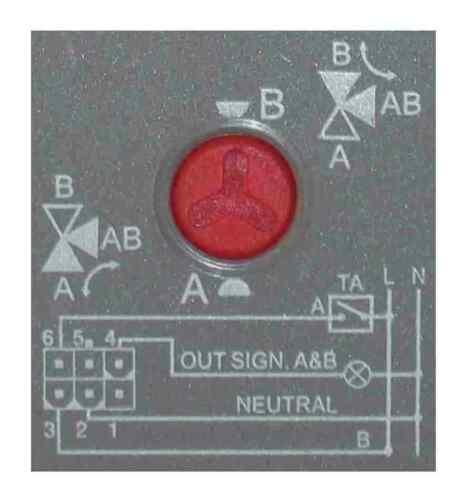 Elektromotorischer 3 Voies robinet à bille 22 mm Serrage
