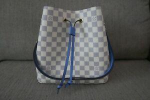 Sale-New-Authentic-2019-Louis-Vuitton-LV-Bag-Damier-Azur-Neo-Noe-Denim
