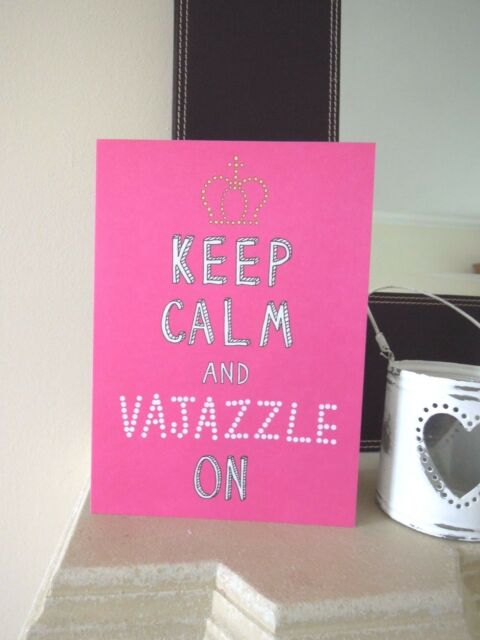 Vajazzle Towie Essex Bling Blank Happy Birthday Card Sister Best
