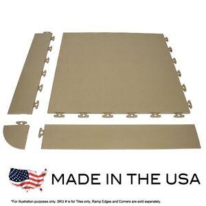 Flexible Pvc Garage Flooring Coin Top Sample Kit Beige