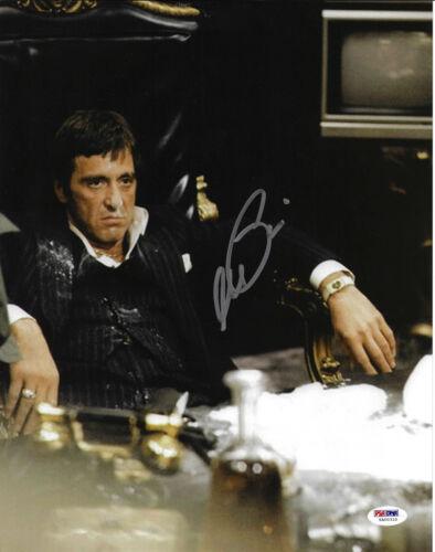 Al Pacino Autographed 11x14 Scarface Photo Tony Montana Chair Sitting PSA//DNA