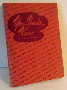 Bible-Christian-Training-Course-Should-Know-Workers-Armstrong-1949-Teacher-Vtg
