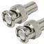 Indexbild 1 - 2 x Adapter BNC Stecker - Cinch Kupplung / Buchse, Audio Video, BNC, RCA, Chinch